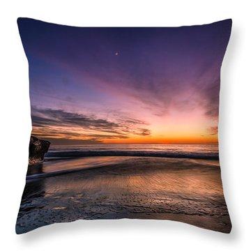 4 Mile Beach Sunset Throw Pillow