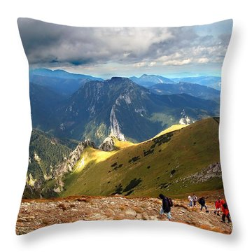 Mountains Stormy Landscape Throw Pillow by Michal Bednarek