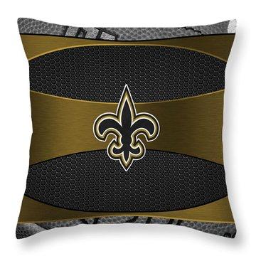 New Orleans Saints Throw Pillow by Joe Hamilton