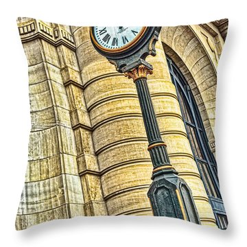 4 O'clock Train Throw Pillow by Sennie Pierson