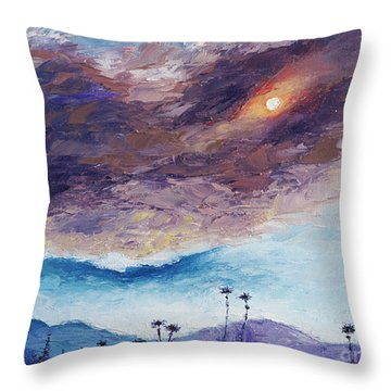 Palm Springs Summer Throw Pillow