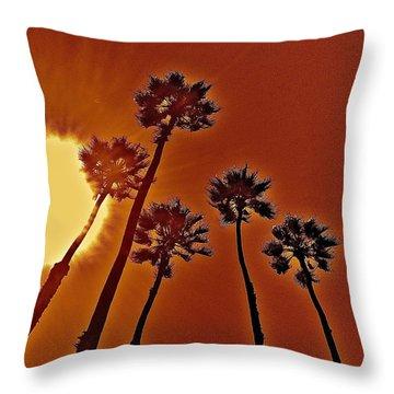 4 Palms N Sun Throw Pillow