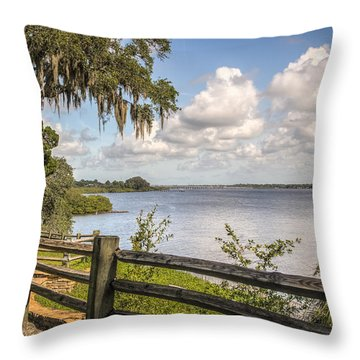 Throw Pillow featuring the photograph Philippe Park by Jane Luxton