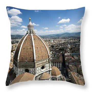 Piazza Del Duomo With Basilica Of Saint Throw Pillow by Evgeny Kuklev