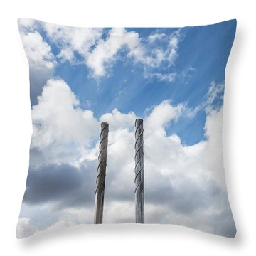 Pipes At Nesjavellir Geothermal Power Throw Pillow