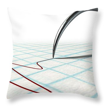 Polygraph Needle And Drawing Throw Pillow