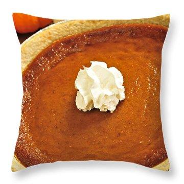 Pumpkin Pie Throw Pillow by Elena Elisseeva