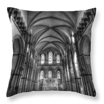 Rochester Cathedral Interior Hdr. Throw Pillow