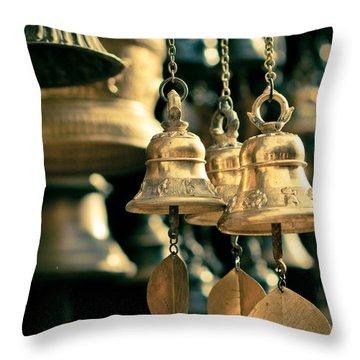 Sacrificial Bells Throw Pillow