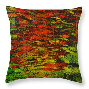 4 Seasons Fall Throw Pillow by P Dwain Morris