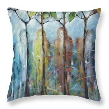 4 Seasons On Ice 061110 Throw Pillow