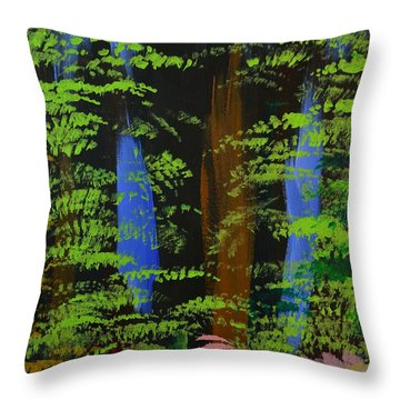 4 Seasons Spring Throw Pillow by P Dwain Morris