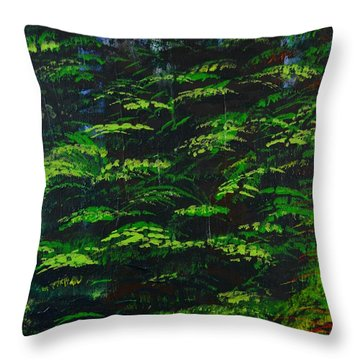 4 Seasons Summer Throw Pillow by P Dwain Morris