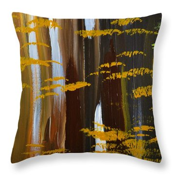 4 Seasons Winter Throw Pillow by P Dwain Morris