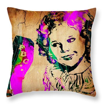 Shirley Temple Collection Throw Pillow