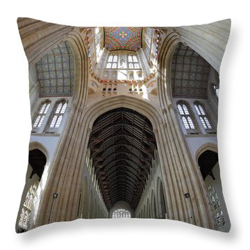 St Edmundsbury Cathedral  Throw Pillow by Nicholas Burningham