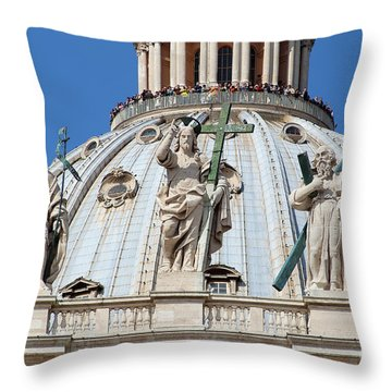 St Peter Dome In Vatican Throw Pillow by George Atsametakis