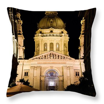 St. Stephen's Basilica In Budapest Throw Pillow by Michal Bednarek