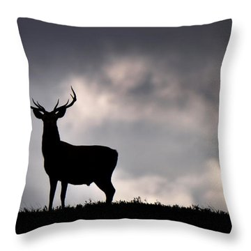 Stag Silhouette Throw Pillow