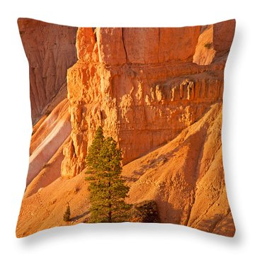 Sunrise At Sunset Point Bryce Canyon National Park Throw Pillow