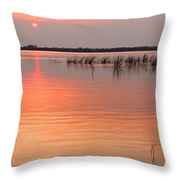 Sunset  River Panorama Throw Pillow by Vitaliy Gladkiy