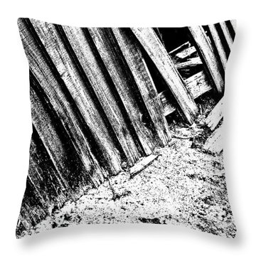 Broken Fence Throw Pillow by Jason Michael Roust