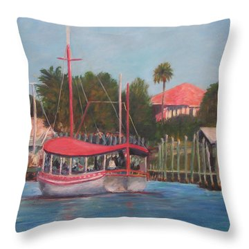 Tarpon Springs Florida Throw Pillow