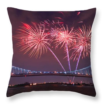 4 Th Of July Firework Throw Pillow by Rima Biswas