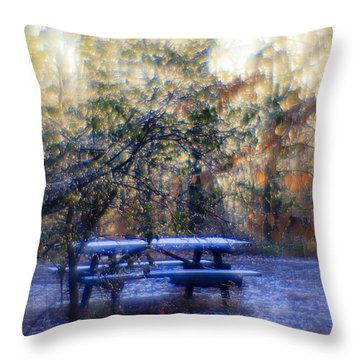 The Magic Forest Throw Pillow