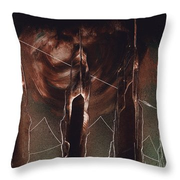 Four Towers Throw Pillow
