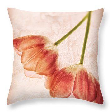 Tulip Flowers Throw Pillow by Charline Xia