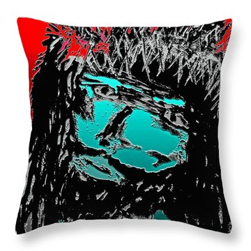 Throw Pillow featuring the mixed media 4 U 4 Me by Everette McMahan jr