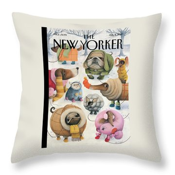 New Yorker February 8th, 2010 Throw Pillow