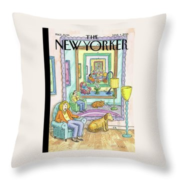New Yorker March 4th, 2013 Throw Pillow
