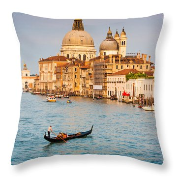 Venice Sunset Throw Pillow by JR Photography