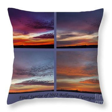 4 Views Of Sunrise 2 Throw Pillow