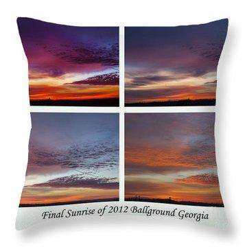 4 Views Of Sunrise Throw Pillow