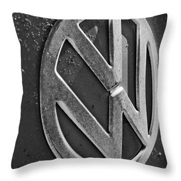 Volkswagen Vw Bus Front Emblem Throw Pillow