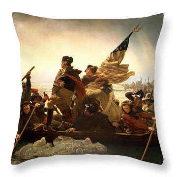 Washington Crossing The Delaware Throw Pillow