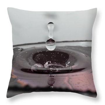4 Water Drops Throw Pillow