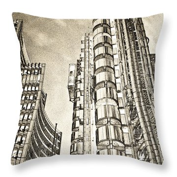 Willis Group And Lloyd's Of London Art Throw Pillow