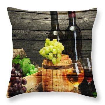 Wine Throw Pillow by Joe Hamilton