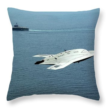Uss George H W Bush Throw Pillows