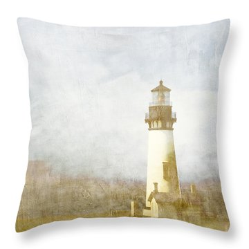 Yaquina Head Light Throw Pillow