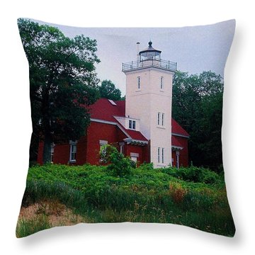 Throw Pillow featuring the photograph 40 Mile Light by Daniel Thompson
