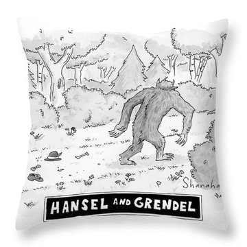 Hansel And Grendel Throw Pillow