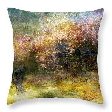 40.	Ruralscape #20 - Two Autumns Throw Pillow by Alfredo Gonzalez