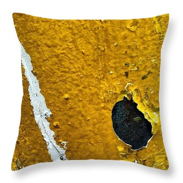 Yellow Post 3 Throw Pillow