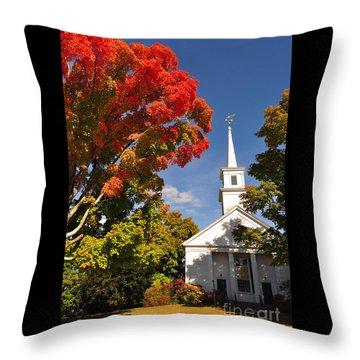 Lunenburg, Ma - Fall Foliage Throw Pillow