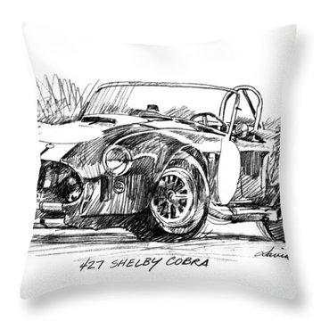 427 Shelby Cobra Throw Pillow